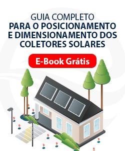 Ebook guia completo para o posicionamento e dimensionamento dos coletores solares.
